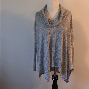 Express gray cowl neck sweater